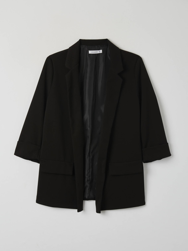 Picture of Open blazer with roll-up sleeve