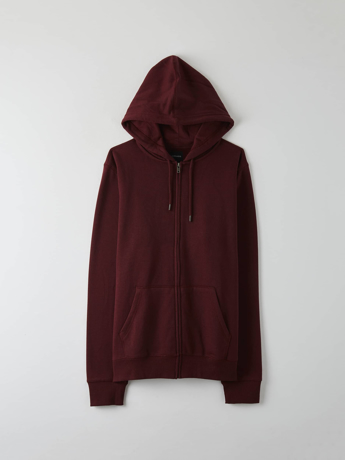 Picture of Plain zipped hooded sweatshirt