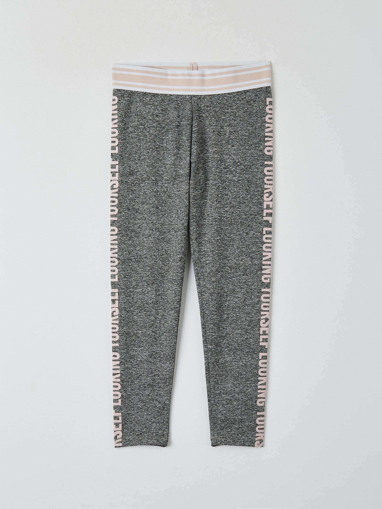 Picture of Girls' vanisГ© knit leggings with script on the sides