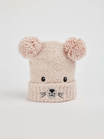 Picture of Hat with a bear and pompom
