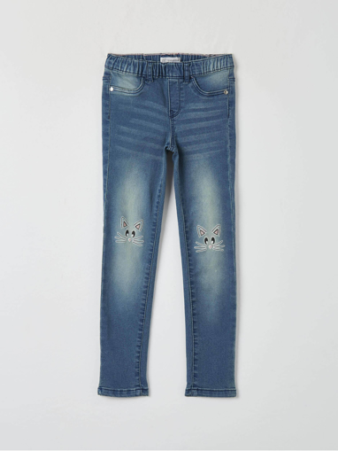 Picture of Jegging jeans with kitten print
